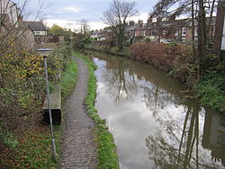 Shropshire Union Canal from Cheyney Road, Chester.JPG