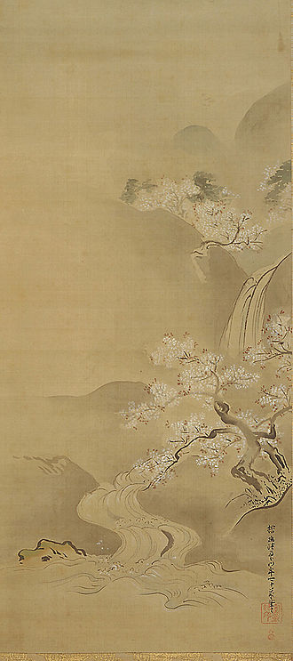 Kanō school - Spring Landscape by Kanō Tan'yū, 17th century