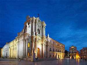 English: Piazza Duomo, Syracuse, Sicily, Italy...
