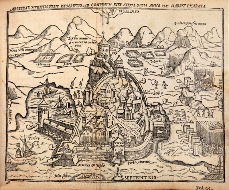Expédition d'Alger par l'empereur Charles-Quint, en 1541 dans Histoire 800px-Siege_of_Algiers_1541