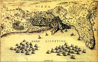 Italian War of 1542–46 - Image: Siege of Nice (1543)