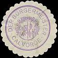 Siegelmarke Der Bürgermeister Calvörde W0385118.jpg
