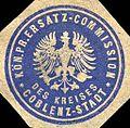 Siegelmarke Königlich Preussische Ersatz - Commission des Kreises Coblenz - Stadt W0216204.jpg