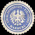 Siegelmarke Königliche Universitäts - Bibliothek - Marburg W0226181.jpg