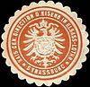 Siegelmarke K. General Direction der Eisenbahn in Elsass - Lothringen - Strassburg W0212974.jpg