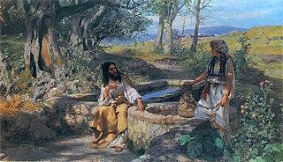 Christ and Samaritan woman