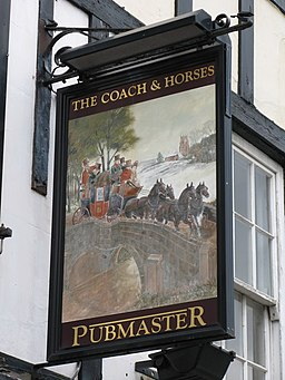 Sign for the Coach and Horses - geograph.org.uk - 738869