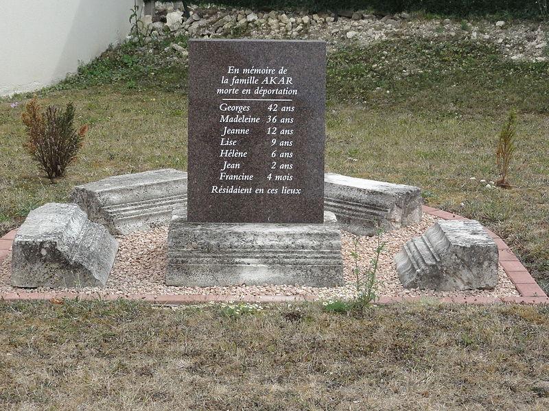 Silmont (Meuse) mémorial famille Akar morte en déportation