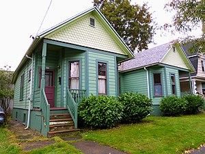 National Register of Historic Places listings in Northeast Portland, Oregon - Image: Simon Abraham Duplex 2013 Portland Oregon