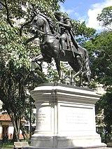 Estatua ecuestre de Simón Bolívar, Parque Bolívar