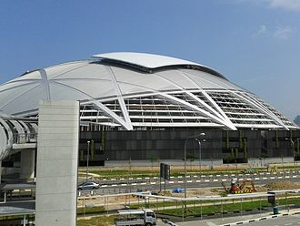 Singapore Sports Hub - Singapore National Stadium from Kallang Footbridge