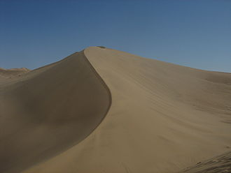 Singing sand - Sand dunes on the edge of Dunhuang