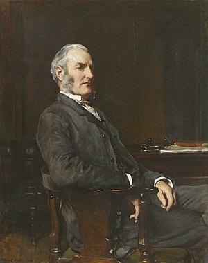 Edward Harland - Portrait by Frank Holl (1884)