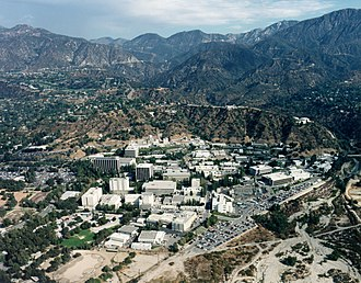 Foothills of the San Gabriel Valley - The Jet Propulsion Laboratory complex in La Cañada, in the foothills of the western San Gabriel Valley