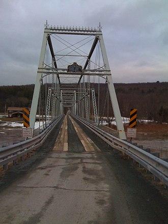 Skinners Falls–Milanville Bridge - Image: Skinners Falls Milanville Bridge