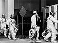 Skylab 4 crew walk to transfer van (KSC-73P-651).jpg