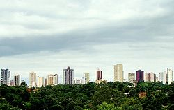 The skyline of Foz do Iguaçu