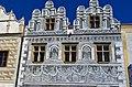 Slavonice - Horní náměstí - View NE on Renaissance House.jpg