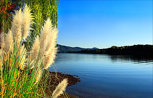 English: Smith Mountain Lake, Virginia taken i...