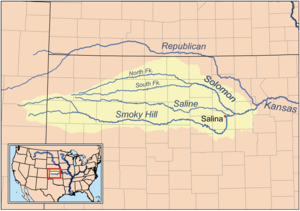 Smoky Hill River - Image: Smokyhillrivermap