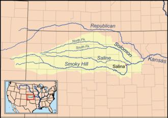 Smoky Hill River - Image: Smokyhillrivermap