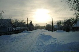 Snow covered village field in the morning.jpg