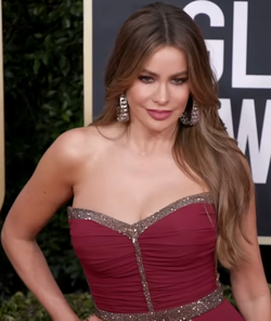Sofia Vergara at Golden Globes Red Carpet 2020.png