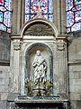 Soissons (02), cathédrale, chapelle rayonnante nord, autel et retable de saint Rufin 2.jpg