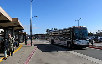 El Cerrito del Norte station - SolanoExpress bus at the station