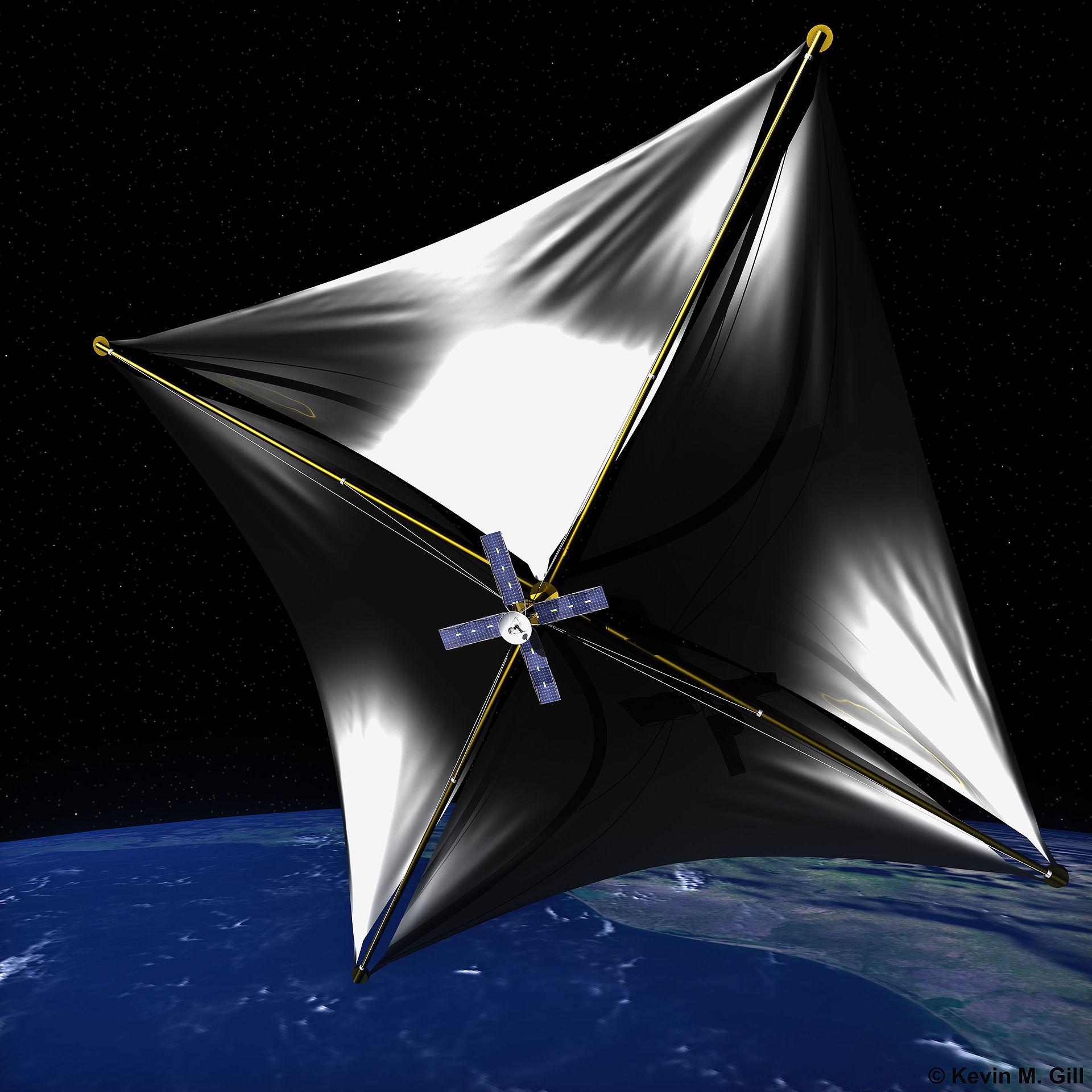 SolarChip-aluksen visualisointi
