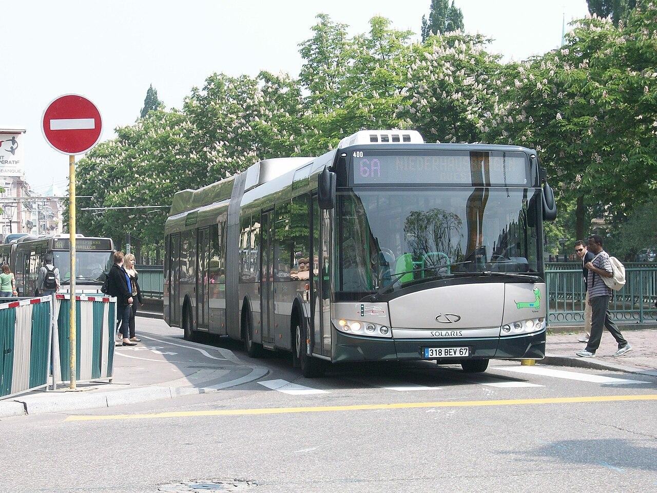 Bus híbrido testado en Estrasburgo