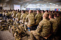 Soldiers in Briefing at RSOI in Camp Bastion, Afghanistan MOD 45154541.jpg