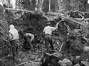 Lapland gold rush - Gold mining by the Sotajoki river in 1898