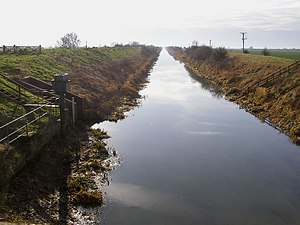 Forty Foot Drain - South Forty Foot Drain from Donington High Bridge.