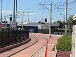 South along tracks from Airport station, Aug 15.jpg