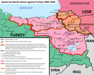 Soviet territorial claims against Turkey 1945-1953