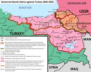 Soviet territorial claims against Turkey