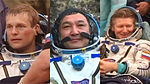 Soyuz TMA-16M crew members after landing.jpg