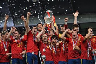 Spain national football team - Spain, champions of UEFA Euro 2012.