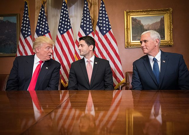Speaker Ryan with Trump and Pence