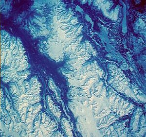 Interior Mountains - Satellite photo of the Spectrum Range