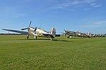 Spitfire flightline - 'Meet the Fighters' airshow. Duxford, 11-9-2016 (29015618113).jpg
