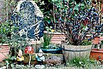 Spring is here, and so our garden gnomes have come out of hibernation -) (33666376921).jpg