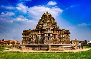 Lakshminarayana Temple, Hosaholalu - Image: Sri Lakshminarayana Temple , Hosaholalu West side view