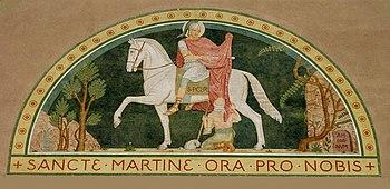 St. Martin fresco, Beuron Art School, 1899