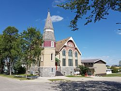 St. Andrew's United Church in Manitou, constructed in 1901.