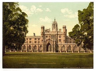 Parnassus plays - St. John's College, Cambridge, England, where the Parnassus plays were performed