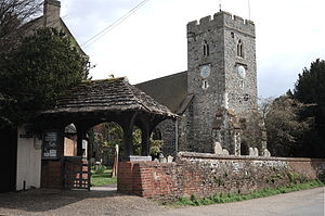 St Peter's Church, Old Woking - Image: St Peters Church 1