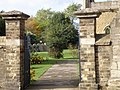 St Andrew's Church gates and Bench Mark - geograph.org.uk - 1554117.jpg