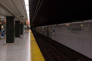 St. Andrew station - Image: St Andrew Platform 01